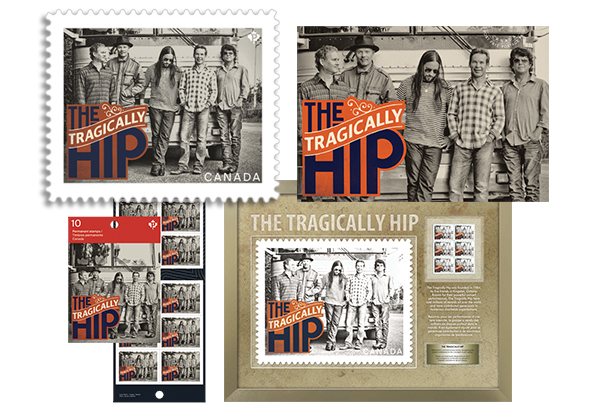 Tragically Hip Stamp and Postcard