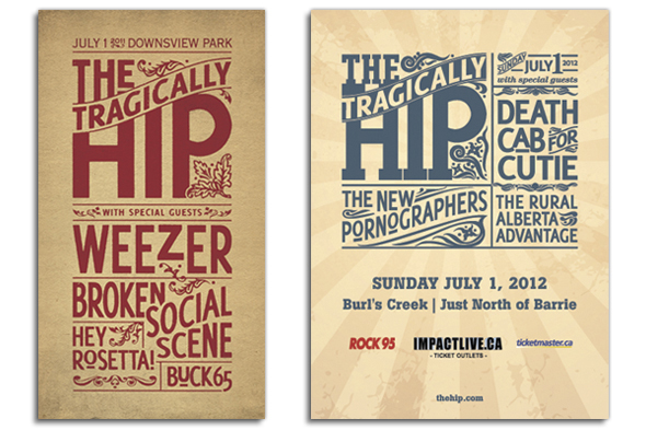 Tragically Hip Posters